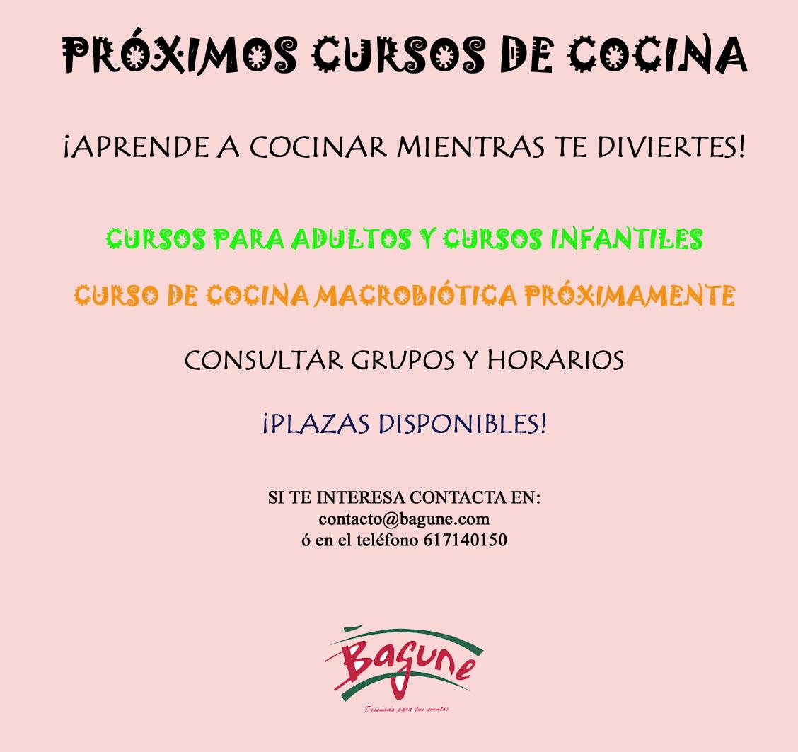 Proximos cursos de cocina bagune bagune for Cursos de cocina en badajoz