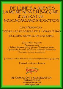 Esta primavera servicio de catering gratuito en Bagune
